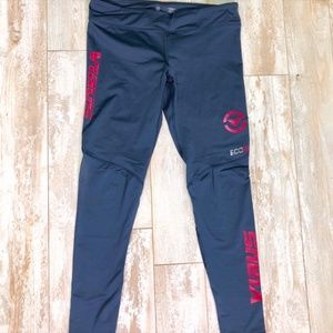 ECo21 Stay Cool Compression Pant Navy & Coral